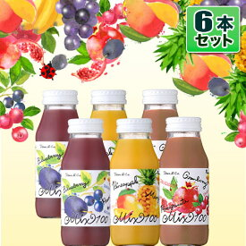 砂糖・香料不使用 ストレート果汁100% Dean&Co.(スムージータイプ)Aセット 3種6本 ザクロ クランベリー、ブルーベリー プルーン、マンゴ パイン(180ml×各2本) ジュースギフト スムージー 100%ジュース ディーンアンドコー