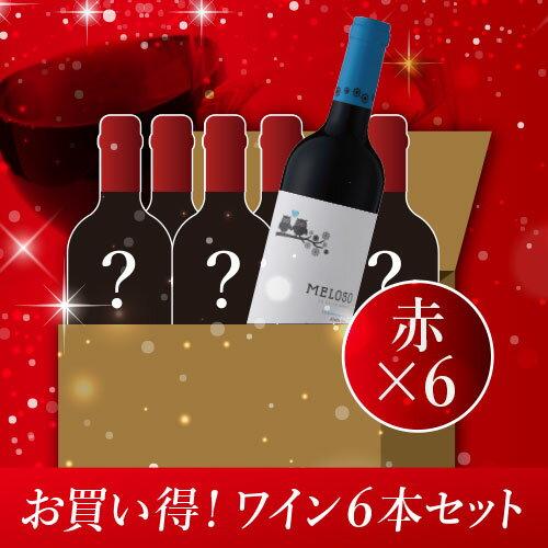 数量限定 4ヶ国 赤ワイン6本セット 750ml×6本 送料無料 (フランス2本、スペイン2本、チリ1本、アルゼンチン1本)