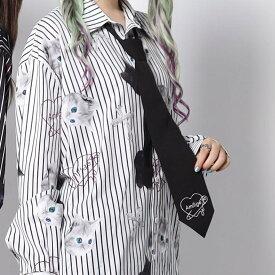 ハートロゴ刺繍ネクタイ