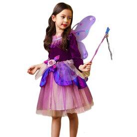 ハロウィン 女の子 衣装 魔女 子供 コスプレ 仮装 キッズ ワンピース 子供 コスチューム 魔法使い キッズ 子供 ワンピ 精霊 女の子 妖精 パーティーグッズ 子どもドレス キッズダンス衣装