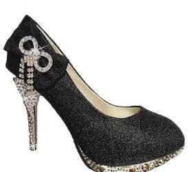 ブライダル シューズ レディース靴 ハイヒール パーティ クラブ SEXY ウエディングシューズ ラインストーン パンプス ウェディングシューズ 花嫁 シルバー ゴールド レッド イエロー ブラック 22cm-25.5cm