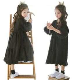 子供ワンピース 子どもドレス 女の子 ロングドレス 結婚式 七五三 キッズ ワンピース 長袖 ベビードレス 可愛い 100 110 120 130 140 150 160cm