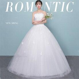 格安 ウエディングドレス ドレス 二次会 花嫁 ウェディングドレス フォーマル パーティードレス オシャレ ロング丈 白いドレス 結婚式 ビスチェ 大きいサイズ