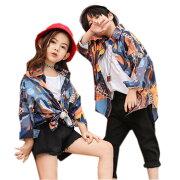 キッズダンス衣装ヒップホップHIPHOP子供男の子女の子ダンストップスシャツtシャツダンスパンツダンス衣装ジャズダンスステージ衣装練習着120130140150160170