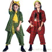子供服ヒップホップキッズダンス衣装セットアップストライプダンストップスtシャツ男の子女の子ロングパンツかっこいいグレーボーダー柄チーム揃い