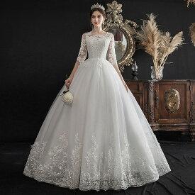 送料無料 ウェディングドレス 格安 ウエディングドレス wedding dress エンパイアタイプ ドレス おしゃれ ホワイト オーダーメイド対応