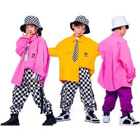 キッズ ダンス 衣装 子供 ヒップホップ ダンス トップ シャツ キッズ ダンス 衣装 ギンガムチェック パンツ 男の子 女の子 ダンス衣装 ジャズ ダンス ステージ衣装 チェック衣装 HIPHOP ダンス衣装 ジャズダンス