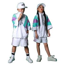 キッズダンス 衣装 ヒップホップ 子供 HIPHOP 上下 セットアップ パンツセット半袖Tシャツ ガールズ じゃ練習着 韓国風 男女兼用 体操服 ジャズダンス JAZZ パーカー ダンスウェア 子ど ランニング