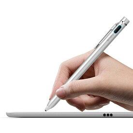 【送料無料】充電式電子スタイラスペン極細タッチペン iphone android ipad windowsタッチペン usb充電式 スタイラスペン 細い ペン先1.45mm クリップ付