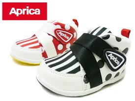 Aprica アップリカ AC0011 STEP1 ホワイト/ブラック ホワイト/レッド ベビーシューズ ファーストシューズ ベビー靴 靴 シューズ