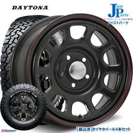 送料無料225/70R16 102/99R LRC RWLBF Goodrich All-Terrain T/A KO2ホワイトレター新品 サマータイヤ ホイール4本セットデイトナ(Daytona)SSブラック(レッドブルーライン)16インチ 7.0J 5H114.3