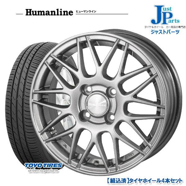 送料無料 155/65R14トーヨー TOYO SD-k7新品 サマータイヤ ホイール4本セットヒューマンラン HM02ダークグレー14インチ 4.5J 4H100ムーヴカスタム/ワゴンR/フレアワゴン/EKワゴン/デイズルークス等