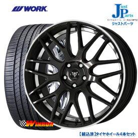 送料無料 225/50R18ウィンラン WINRUN R330新品 サマータイヤ ホイール4本セットWORK RYVER M009 ワーク18インチ 7.0J 5H114.3BMRC