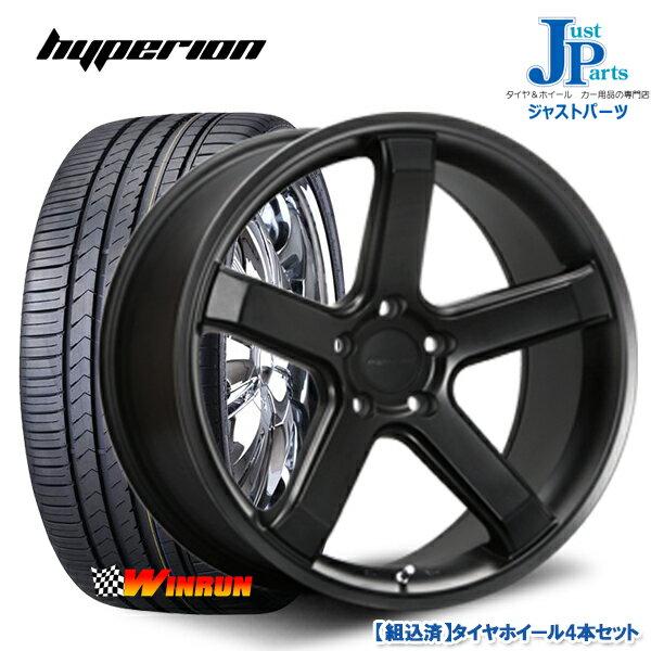 送料無料 245/45R19ウィンラン(WINRUN) R330新品 サマータイヤ ホイール4本セットハイペリオン CVS1.5ハーフグロスブラック19インチ 8.5J 5H114.3