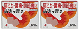 【送料無料】 おきゅ膏Z 120枚入×2個セット 第3類医薬品 ゼリア新薬