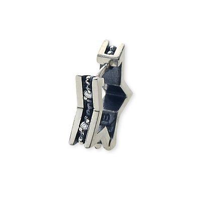 M's collection エムズコレクション シルバー ピアス キュービック ホワイト 20代 30代 彼氏 メンズ