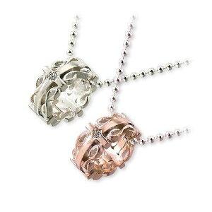 HIS jewelry collection ヒス・ジュエリーコレクション ペアネックレス 大人 キュービック ホワイト ブランド