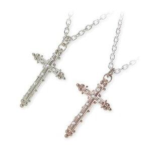 HIS jewelry collection ヒス・ジュエリーコレクション ペアネックレス 大人 キュービック ホワイト クロス ブランド