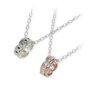 HIS jewelry collection ヒス・ジュエリーコレクション ペアネックレス 大人 ホワイト ブランド