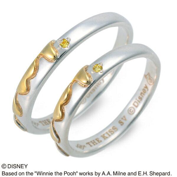 THE KISS Disney シルバー ペアリング 婚約指輪 結婚指輪 エンゲージリング 20代 30代 彼女 彼氏 レディース メンズ カップル ペア 誕生日プレゼント 記念日 ギフトラッピング あす楽 ザキッス ザキス ザ・キッス ディズニー Disneyzone プーさん 送料無料 ブランド