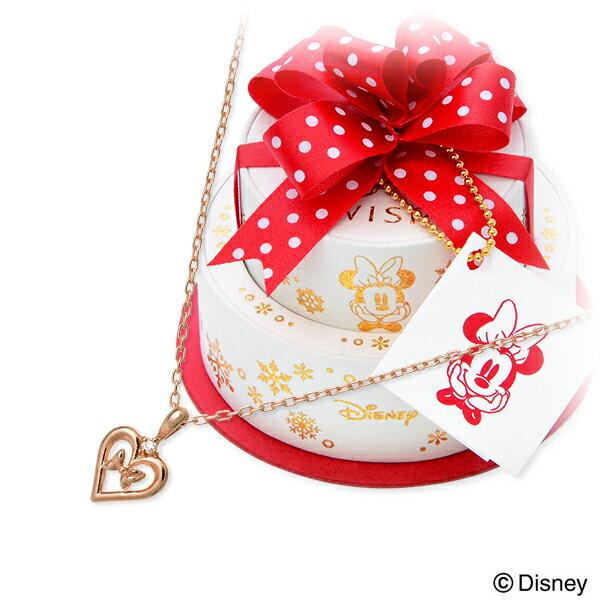 WISP(Disney) Disney ピンクゴールド ネックレス ダイヤモンド ハート 【当店オリジナル】 20代 30代 彼女 レディース 女性 誕生日プレゼント 記念日 ギフトラッピング ウィスプ ディズニー Disneyzone ミニーマウス 送料無料