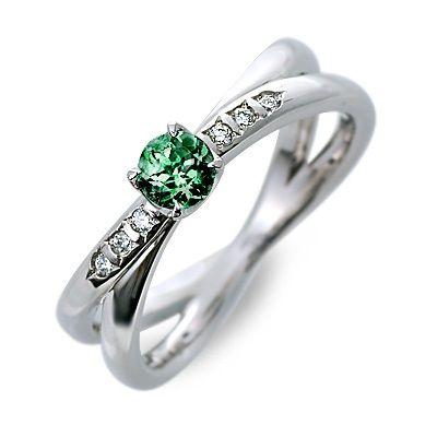 婚約指輪 エンゲージリング プラチナ 5月誕生石 エメラルド ホワイト 20代 30代 彼女 レディース