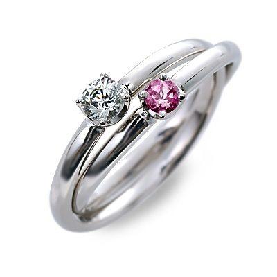 婚約指輪 エンゲージリング プラチナ ルビー ホワイト 20代 30代 彼女 レディース