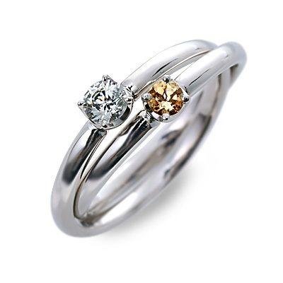 婚約指輪 エンゲージリング プラチナ シトリンクォーツ ホワイト 20代 30代 彼女 レディース