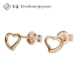 VA Vendome Aoyama ピンクゴールド ピアス ハート 彼女 レディース 女性 誕生日プレゼント 記念日 ギフトラッピング ヴイエーヴァンドームアオヤマ
