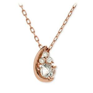 【VA ヴァンドーム青山】 VA Vendome Aoyama K10 ネックレス シンプル ダイヤモンド ピンク 彼女 レディース