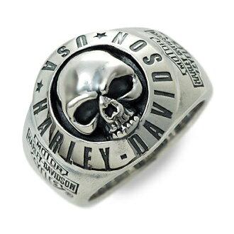 哈雷-Davidson Harley Davidson (R) 的蒂埃里 · 马蒂诺 / 男装 / 银 / 环 / 环