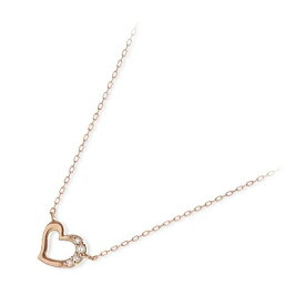 THE KISS sweets ピンクゴールド ネックレス シンプル ダイヤモンド ハート 彼女 レディース 女性 誕生日プレゼント 記念日 ギフトラッピング ザキッススィーツ 送料無料