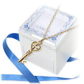 LA PUREZZA ラ・プレッツァ ネックレス 一粒 ダイヤモンド イエロー 彼女 レディース クロスクリスマス 12月