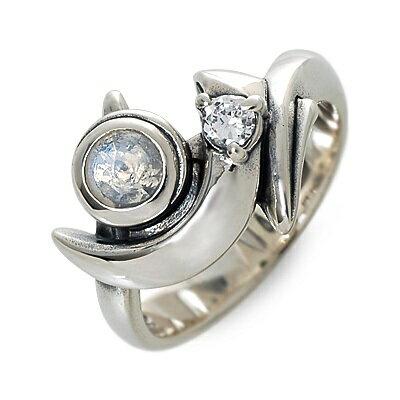 M's collection エムズコレクション シルバー リング 指輪 ムーンストーン ホワイト 20代 30代 彼女 レディース