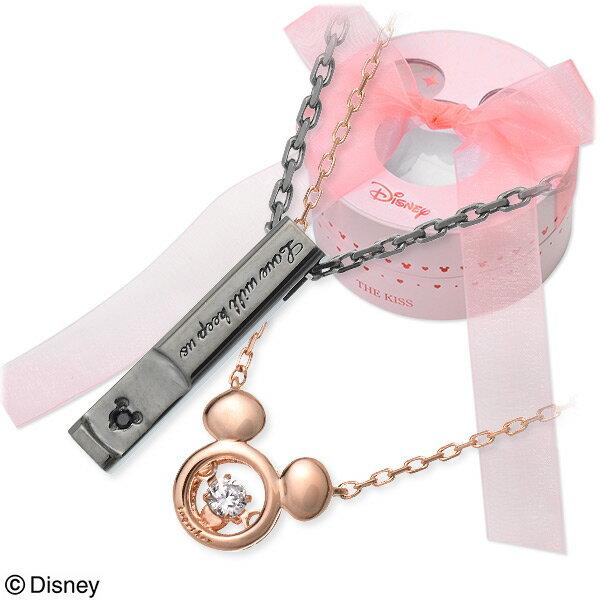ディズニー Disney THE KISS ザ・キッス ペアネックレス キュービック ブラック 20代 30代 人気 ブランド ミッキー disney zone