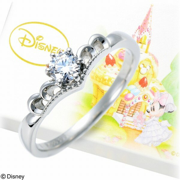WISP(Disney) Disney ピンクゴールド リング 指輪 エンゲージリング 婚約指輪 ダイヤモンド 20代 30代 彼女 レディース 女性 誕生日プレゼント 記念日 ギフトラッピング ウィスプ ディズニー Disneyzone ミニーマウス プラチナ 送料無料