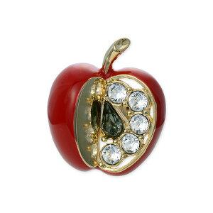 VENDOME BOUTIQUE ヴァンドームブティック メタル ピンバッチ りんご 林檎 ゴールド ブローチ 彼女 レディース 女性 誕生日プレゼント 記念日 ギフトラッピング