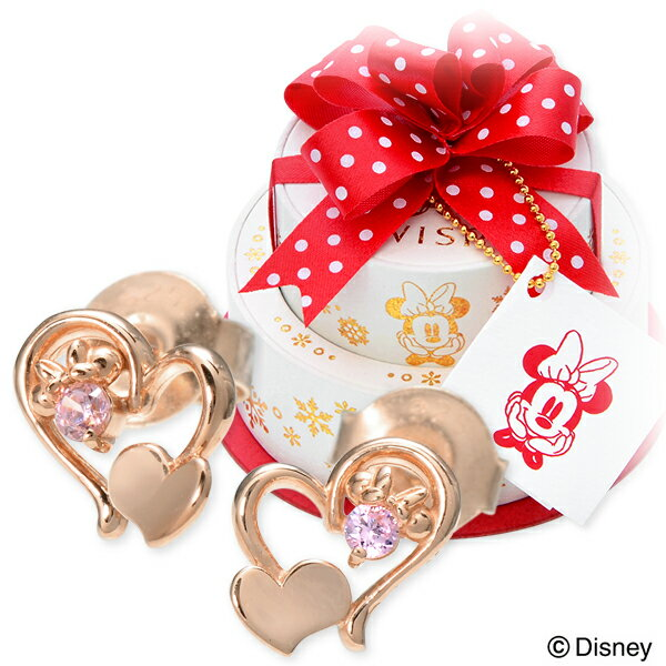 【店内全品ポイント10倍】WISP【Disney】 Disney シルバー ピアス ハート 名入れ 刻印 【当店オリジナル】 20代 30代 彼女 レディース 女性 誕生日プレゼント 記念日 ギフトラッピング ウィスプ【ディズニー】 ディズニー Disneyzone ミニーマウス