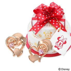 WISP【Disney】 Disney シルバー ピアス ハート 名入れ 刻印 【当店オリジナル】 彼女 レディース 女性 誕生日プレゼント 記念日 ギフトラッピング ウィスプ【ディズニー】 ディズニー Disneyzone ミニーマウス