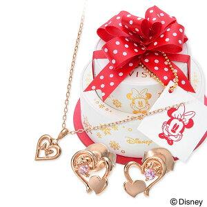 母の日 WISP【Disney】 Disney シルバー ネックレス ダイヤモンド ハート 彼女 レディース 女性 誕生日プレゼント 記念日 ギフトラッピング ウィスプ【ディズニー】 ディズニー Disneyzone ミニーマ