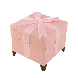 ジュエリーケース 箱 リボン付き ピンク リング ネックレス ピアス ペンダント 指輪 ボックス リボン プレゼント 上品 かわいい ピンク色 シック ギフト