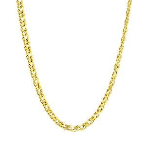 18金 メンズ ネックレス 喜平ネックレス 中空 ダブルキヘイ チェーン ネックレス K18 ゴールド おすすめ プレゼント