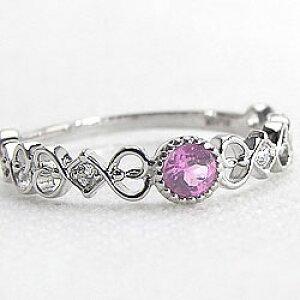 ピンクトルマリンリング 10月誕生石 プラチナ Pt900 ダイヤモンド ピンキーリング 指輪 カラーストーン ファランジリング ミディリング bs10 クリスマス プレゼント ギフト