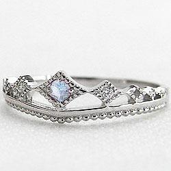 ティアラリング ブルームーンストーン 6月誕生石 プラチナ900 指輪 ダイヤモンド ピンキー リング Pt900 カラーストーン ファランジリング ミディリング bs06 ギフト
