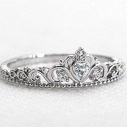 ティアラリング ダイヤモンドリング 指輪 プラチナ900 4月誕生石 Pt900 ピンキーリング ファランジリング ミディリング bs04 ギフト