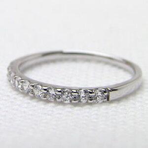 ピンキーリング ダイヤモンドリング エタニティリング ホワイトゴールドK10 10石 0.20ct 結婚指輪 婚約指輪 10金 文字入れ 刻印 可能 クリスマス プレゼント ギフト