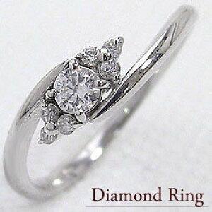 ピンキーリング 7ストーン ダイヤモンドリング ホワイトゴールドK18 指輪 18金 結婚記念日 ジュエリーショップ 誕生日 文字入れ 刻印 可能 クリスマス プレゼント ギフト