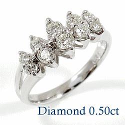 指輪 レディース プラチナリング ダイヤモンドリング 0.50ct Pt900 記念日 結婚 プレゼント 贈り物に ボーナス プレゼント ギフト