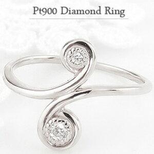 指輪 レディース ダイヤモンド ファランジ リング ミディリング プラチナ Pt900 ピンキーリング 一粒 刻印 可能 クリスマス プレゼント ギフト