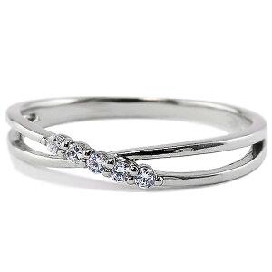 ピンキーリング 指輪 プラチナリング 5ストーンダイヤモンド Pt900 diamond ring 通販 クロスアクセサリー ショップ ジュエリー プレゼント 工房 直販 ギフト